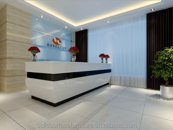 Artificial Marble Modern Hospital Reception Desk For Sale