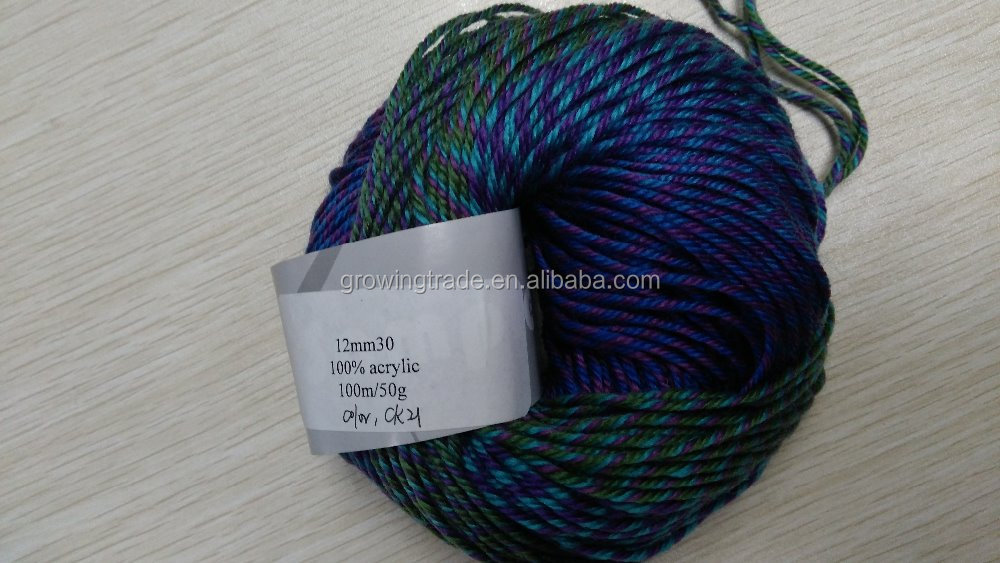 Worsted weight 100% acrylic hand knitting yarn