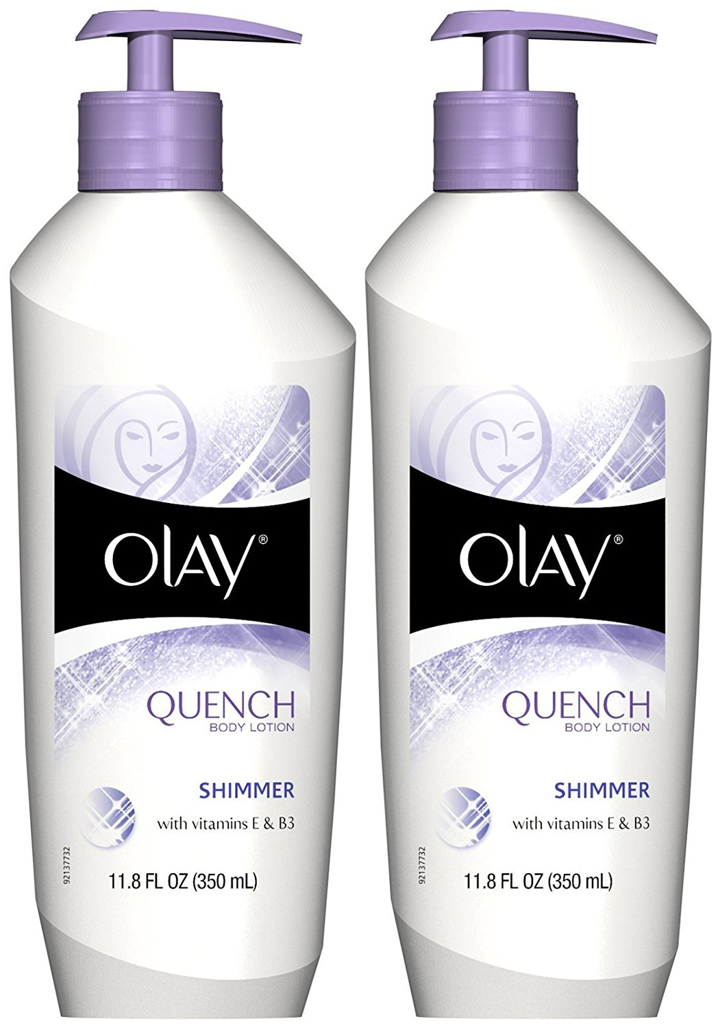 Olay Quench Daily Lotion Plus Shimmer - 11.8 oz - 2 pk