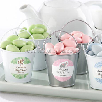 Metal Mini Buckets Pail Bucket Baby Shower Favor Party Candy Favors Gifts