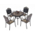 Bronze Black White Elizabeth European Style Heavy Duty Cast Aluminum Outdoor Garden Furniture High Quality Outdoor Bar Furniture