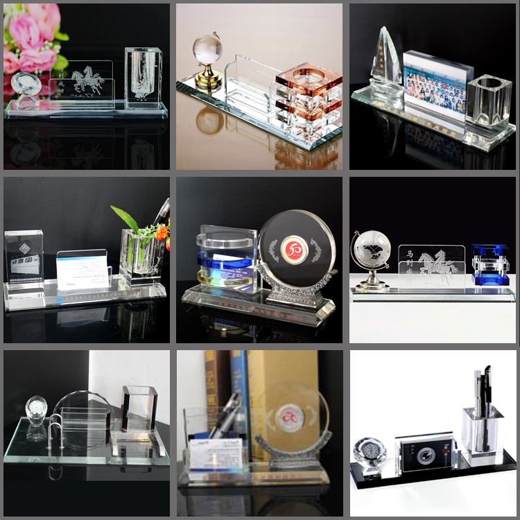 Customized popular new crystal office stationery