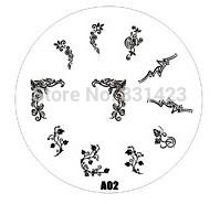 2015 new A Series A02 Nail Art Polish DIY Stamping Plates Image Templates Nail Stamp Stencil