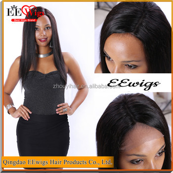 Side Part Straight Wave Human Hair Full Lace Sew In Wig