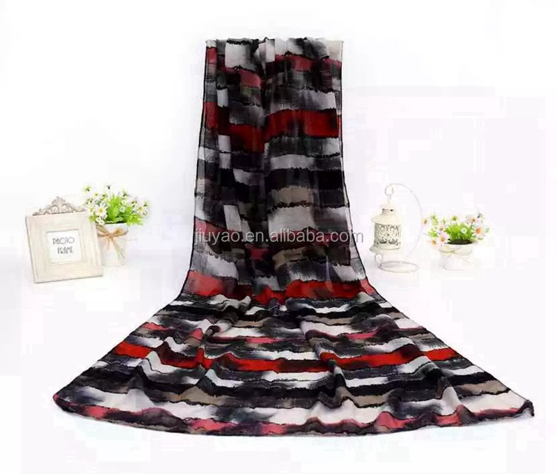 high quality stripe print scarf hijab cotton arab hijab scarf cotton viscose dubai hijab