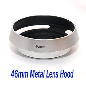 EasyFoto 46mm Silver/ Chrome Curved Vented Metal Lens hood for Leica, Contax Zeiss, Voigtlander Lens