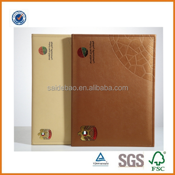 Customized Logo A4 Size Certificate Holder/genuine Leather ...