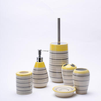 New design beauty ceramic bathroom accessory sets