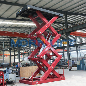 Hydraulic lifting stationary scissor lift table for warehouse or port dock