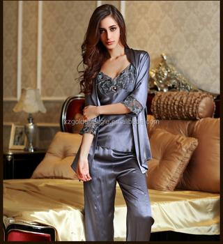Ladies Silk Sleepwear Silk Nightwear Silk Pajamas Suit - Buy Ladies ... 7a36d3f14