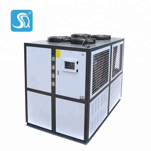 Air-cooled screw pizza chiller 110HP plc control chiller 410KW plastic industrial processes cooling water chiller
