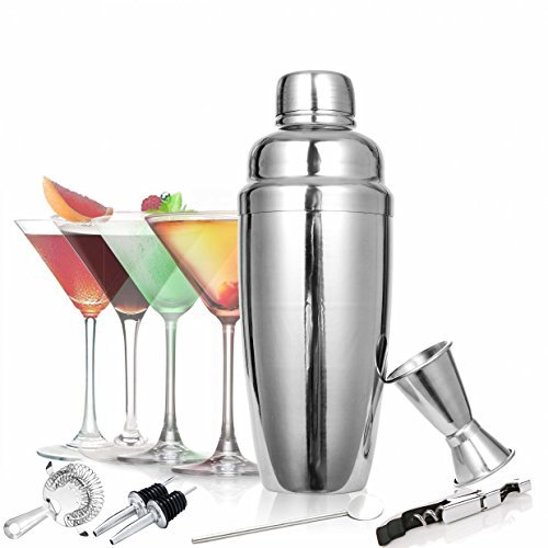 cca27d4434ea9 Get Quotations · TOOGOU 8 Piece Cocktail Shaker Set - Bartender Kit  Stainless Steel Martini Shaker and Strainer Jigger