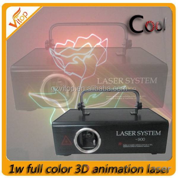 laser light show machine, professional 1w full color led laser light, stage laser light machine