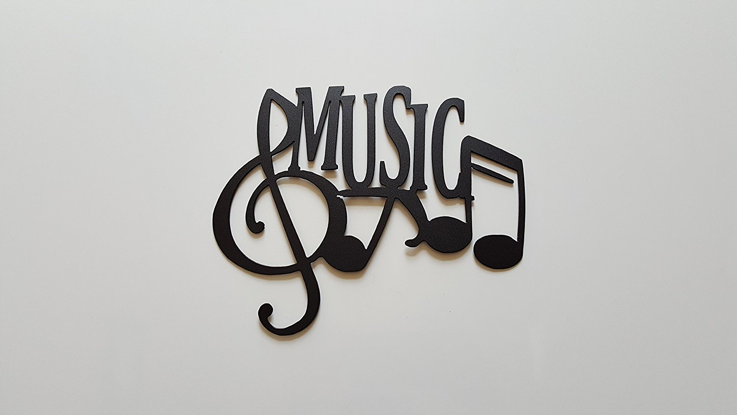 Buy Music Word And Music Notes Metal Wall Art Decor In Cheap Price