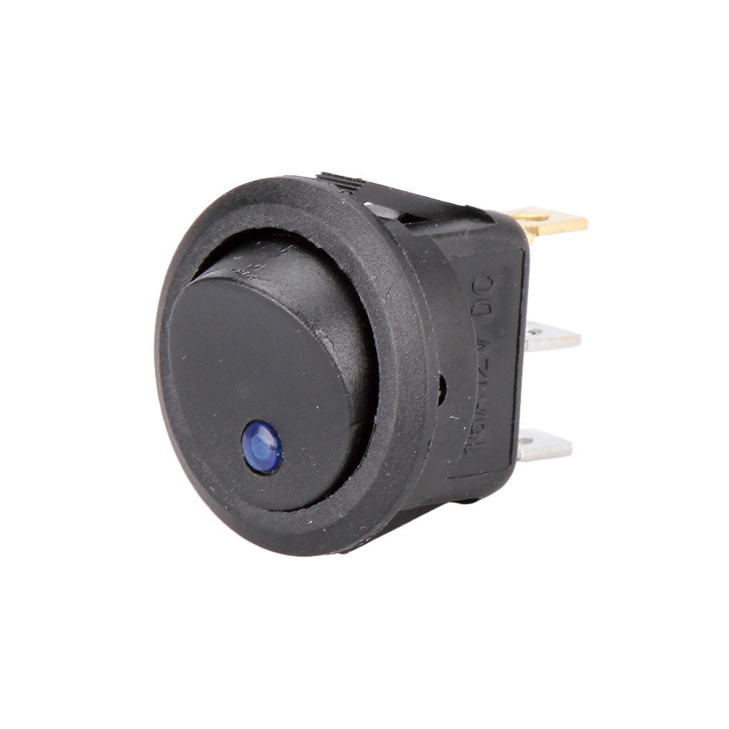 Cheap Round Toggle Switch Find Deals On Line At 12 Volt Rocker Illuminated Wiring Get Quotations Madlife Garage 12v Car Dot Boat Blue Led Light Off