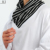 heaps collar 100% cotton white men's thobe and shawb arabic islamic clothing suit muslim fabric