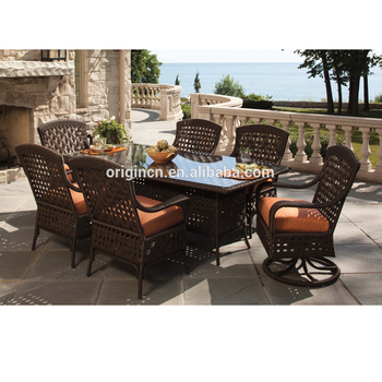 6 Seater Swivel Designed Outdoor Dining
