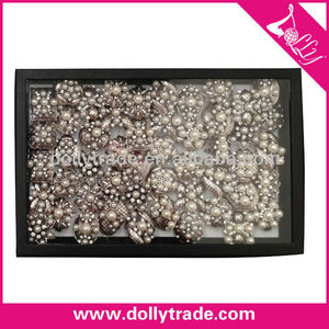 Mixed Elegant Cheap Plastic Retro Pearl Ring for Wedding and Parties