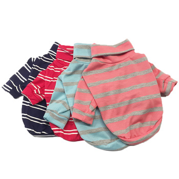 Manufacturers Summer Cute Stripe Custom Customized Cotton Pet Dog tee Clothes T-Shirt