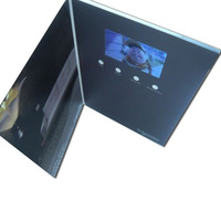 Hot sale creative promotional invitation lcd screen 7 inch video greeting brochure for gift