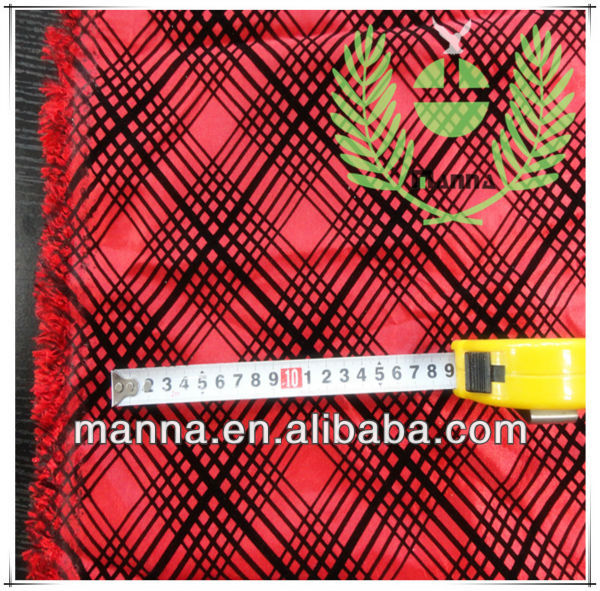 Nylon polyester taffeta red flocking fabric for korea market