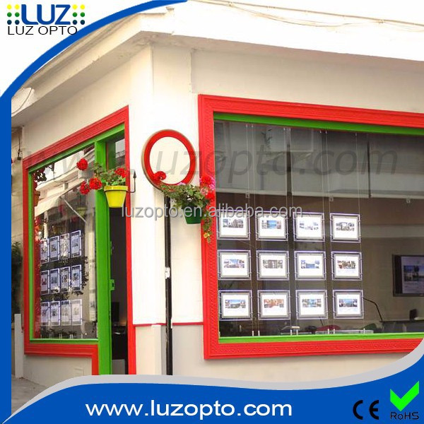window advertising, led shop window signs, exhibitors led for real estate