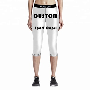 Custom 3d printed Women Short Sport Half Leggings