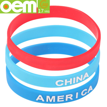 Silicone Bracelet Reflective Custom Design Rubber Bulk