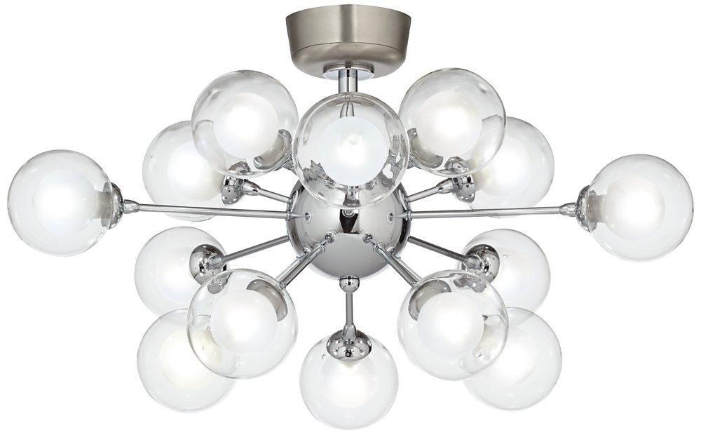 Possini Euro Design Glass Balls 15-Light LED Fan Light Kit