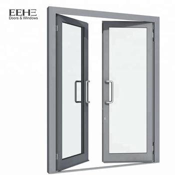 White Aluminum Frame Swing Entry Bedroom Door/house Door - Buy ...