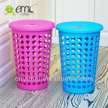 Tall Plastic Laundry Basket Enchanting 60 Round Plastic Laundry Basket With Lid Buy Colored Plastic