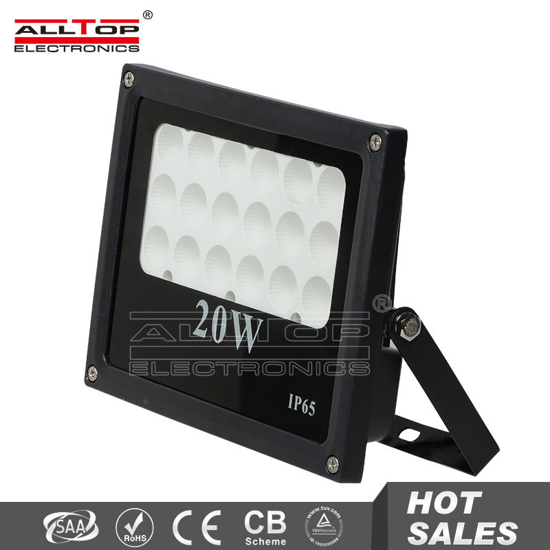 20w most powerful color changing outdoor led solar flood light