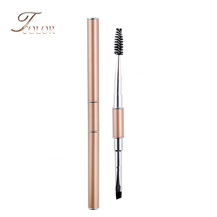 <strong>Best</strong> Quality Metal Handle <strong>Eyebrow</strong> Eyelash Double Ended Luxury Mascara Comb <strong>Brush</strong> with Lip