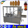 PLC controlled automatic filling capping machine, bottle filling and caping automatic machine,250 ml glass filling