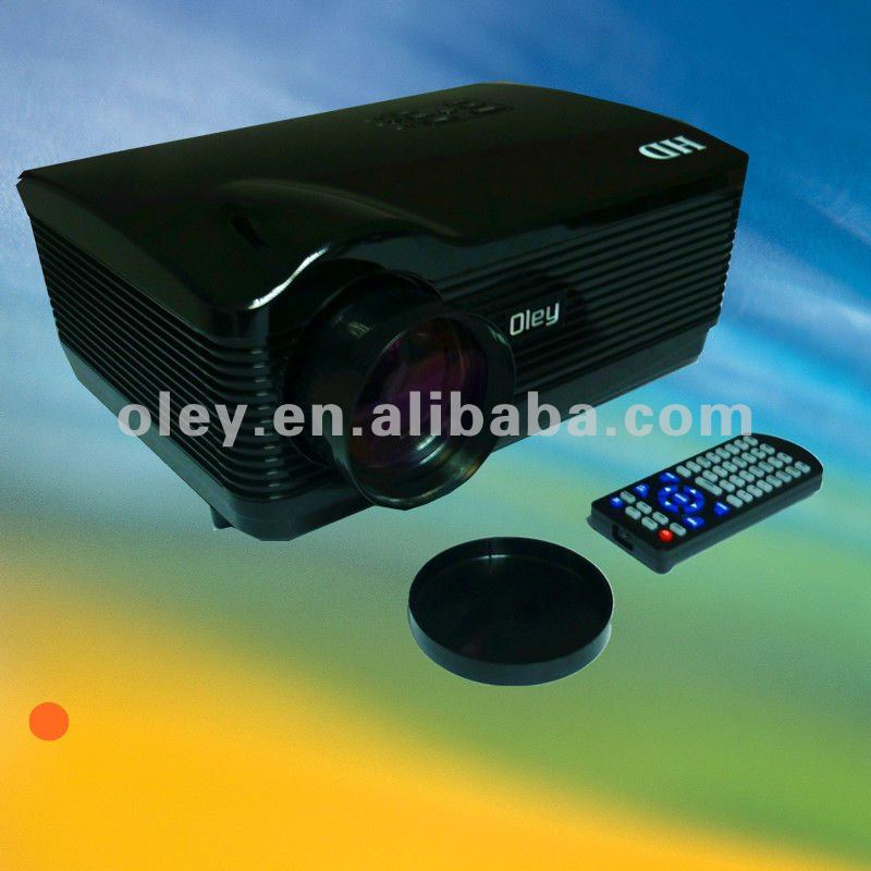 led multimedia projector with 3*hdmi 1280*768 and usb/ card read