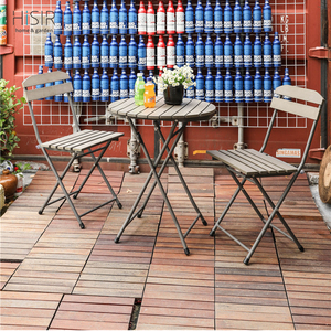 In stock folding dining table with chairs cheap balcony furniture