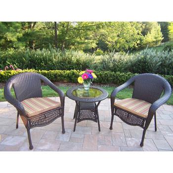Poly Rattan Woven Cheap Balcony Furniture Set Outdoor