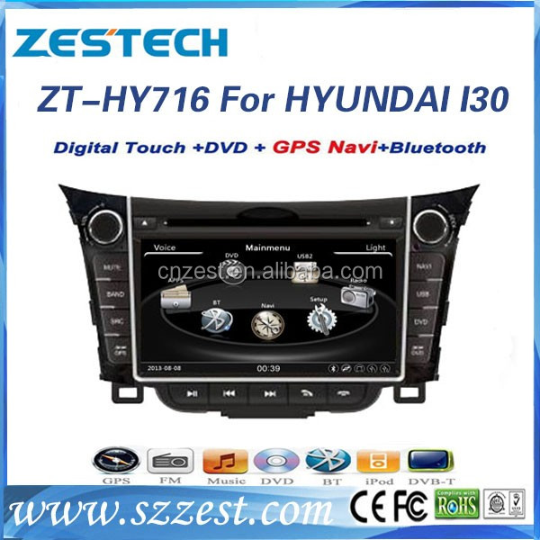 7'' auto radio multimedia system for Hyundai I30 2011 2012 2013 touch screen car dvd car gps navigator with DVD GPS AM/FM TV BT