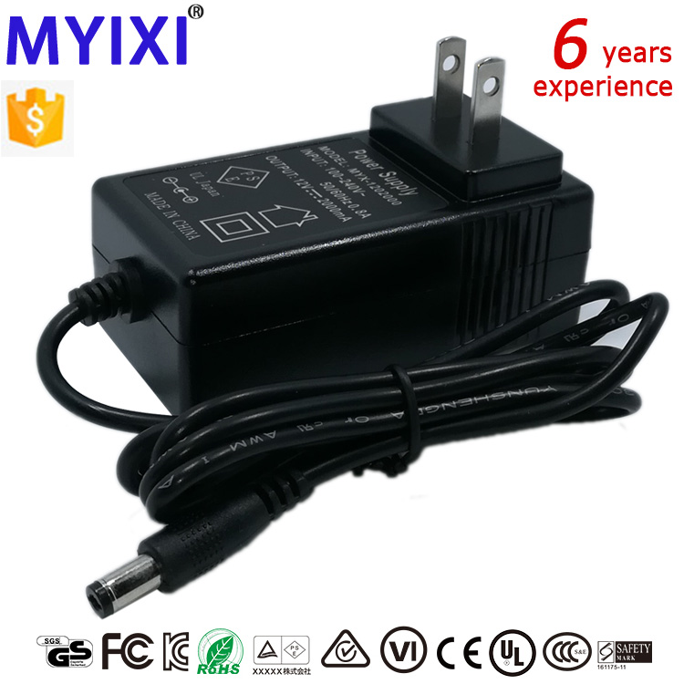 12v 2a US adapter ul approved ac adapterfor gps dvd player with ce adaptor