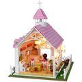 Handmade Doll House Furniture Miniatura Diy Doll Houses Miniature Wooden Unisex 3d Dollhouse Toys For Children
