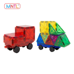 MNTL-100 Pieces Colorful Magnetic Building Blocks For Kids Tiles 3D Intellective Plastic Education Toys