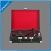 Best portable suitcase retro vinyl turntables record lp player / phonograph / gramophone