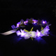 2018 New Arrivals Artificial Ribbon Rose bridal head crowns LED Flower Headband For Girls
