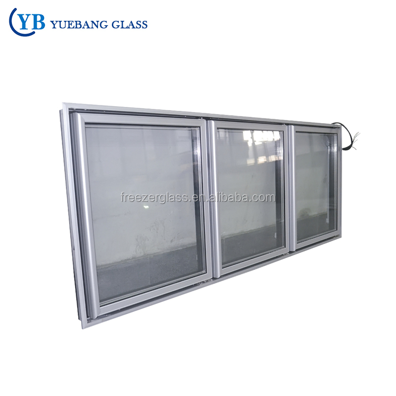 Side By Side Vertical/Upright Display Refrigerators/Fridge/Freezer/Chiller Glass Door