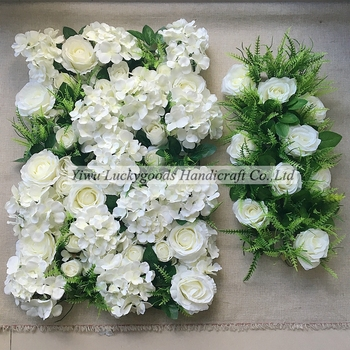 Artificial wedding decoration flower and leaf panel wholesale