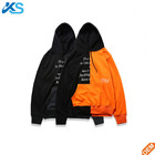 Hip Hop Pullover Patchwork Letter Print Hooded Sweatshirt 100%Cotton Unisex Custom Hoodie Wholesale Hoodies