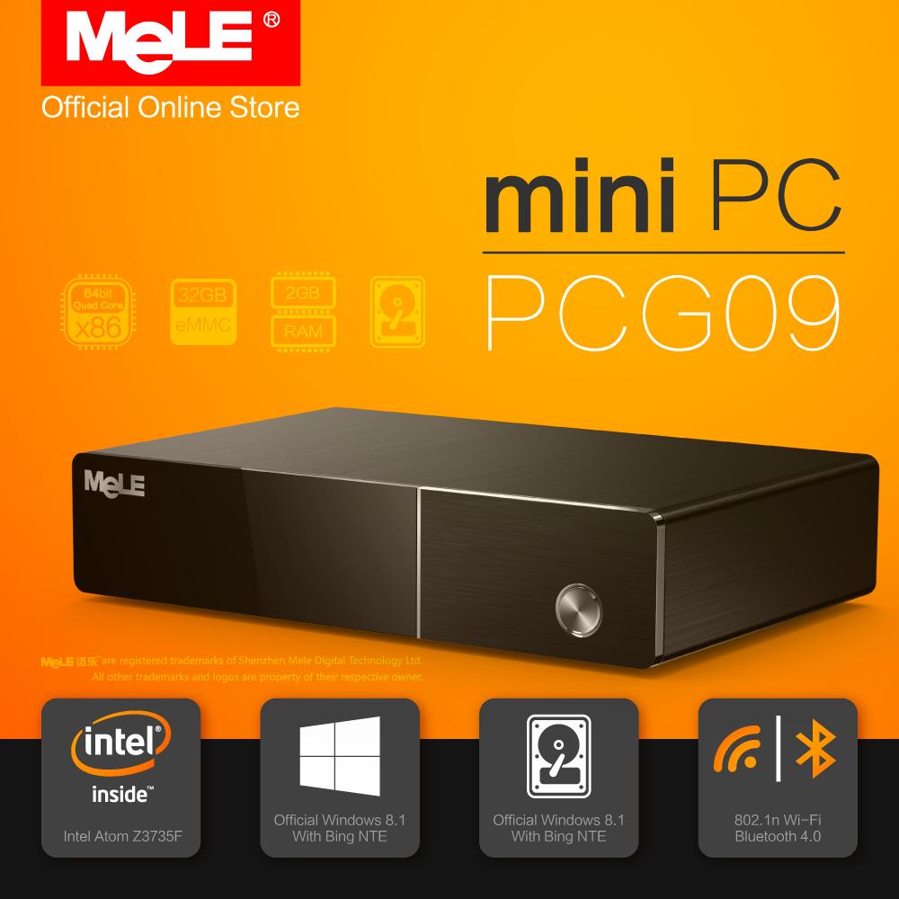 MeLE PCG09 Quad Core Mini PC Intel Z3735F 2G DDR 32G EMMC 2.5 SATA HDD Support