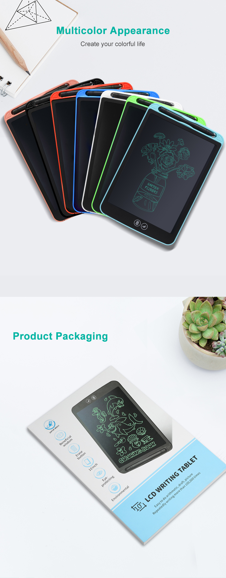 Newyes Üreticisi Tableta Grafica Not Defteri Kısmi Silme Lcd yazı tahtası çizim tableti