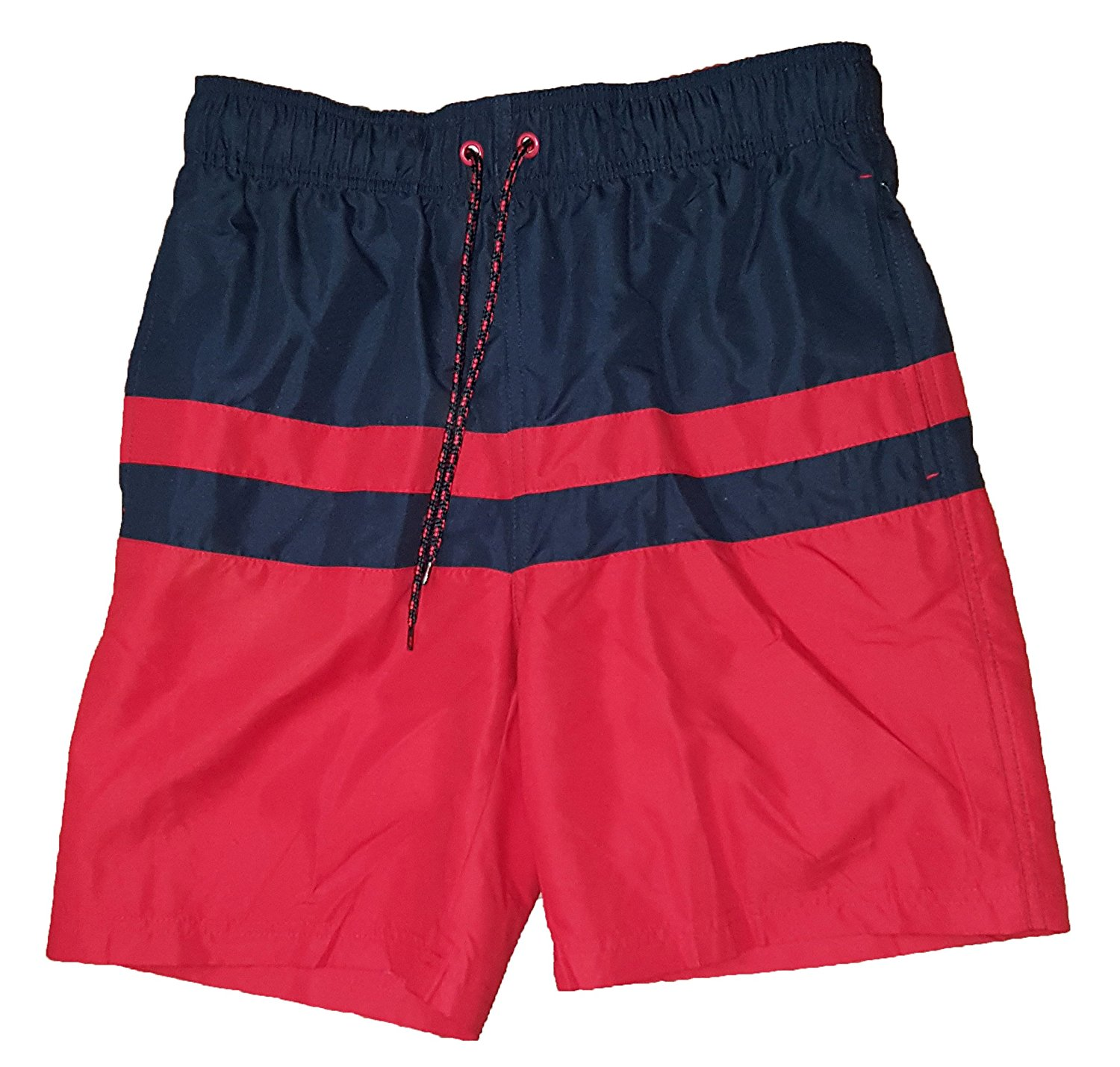1bf3e81c36 Get Quotations · All Guy Color Block Navy & Red Above The Knee 8