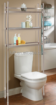 Modern Style Over The Toilet Storage Shelf 3 Clear Gl Shelves